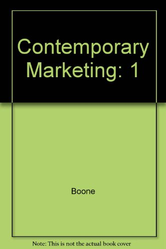 9780030190445: Contemporary Marketing