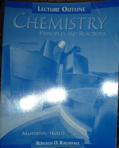 9780030190483: Chemistry: Principles and Reactions : Lecture Outline