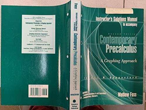 9780030190636: Contemp Precalculus Im W/Tm