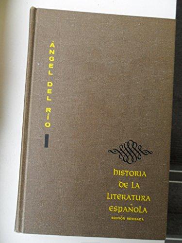 Historia De La Literatura Espanola: Angel Del Rio,