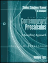 9780030190728: Solutions Manual to Accompany Contemporary Precalculus: A Graphing Approach