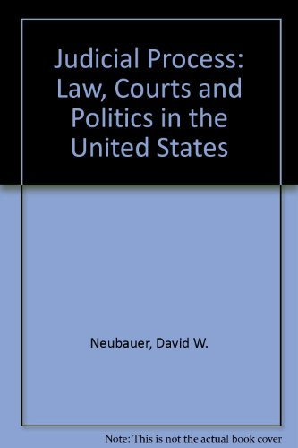 9780030193842: Judicial Process: Law, Courts, And Politics in the United States
