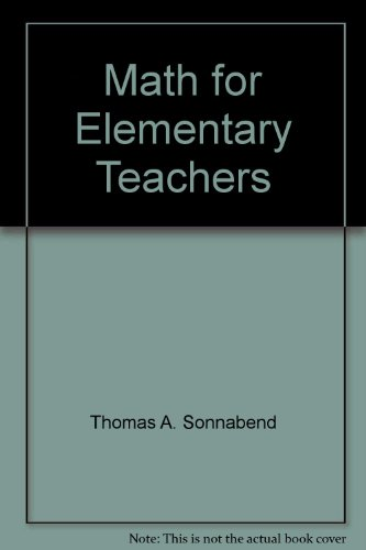 9780030195235: Math for Elementary Teachers
