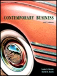 9780030195280: Contemporary Business: 1997 Edition (The Dryden Press series in management)