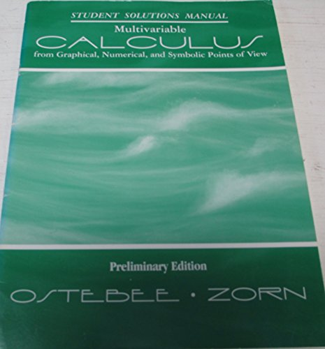 9780030195839: Calculus from Graphs, Numbers, & Symbols