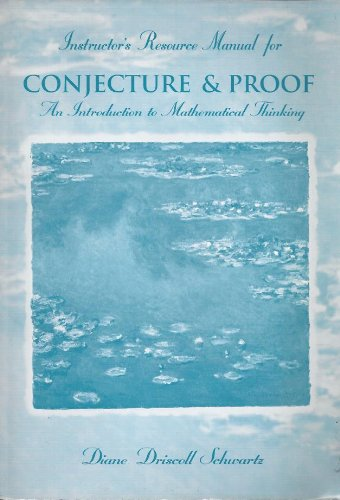 9780030195891: Instructor's Resource Manual for Conjecture and Proof