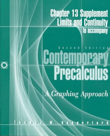 9780030196133: Contemporary Precalculus: A Graphing Approach