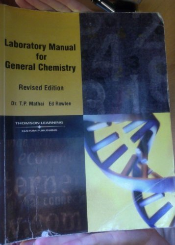 9780030197482: Laboratory Manual for General Chemistry (Revised Edition)