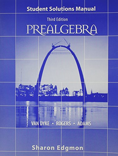 9780030199523: Prealgebra Student Solution Manual