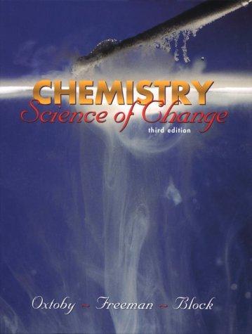 9780030200885: Chemistry: Science of Change (Saunders Golden Sunburst Series)