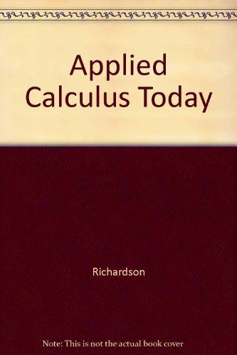 9780030201141: Applied Calculus Today