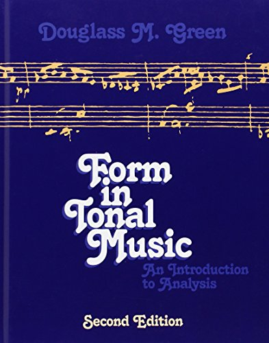 9780030202865: Form in Tonal Music: An Introduction to Analysis