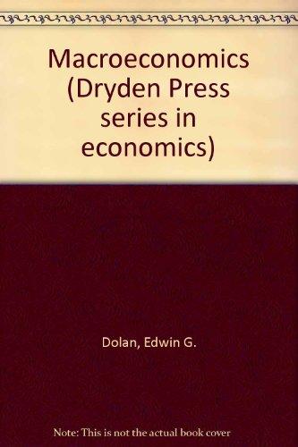 9780030204098: Macroeconomics (Dryden Press series in economics)