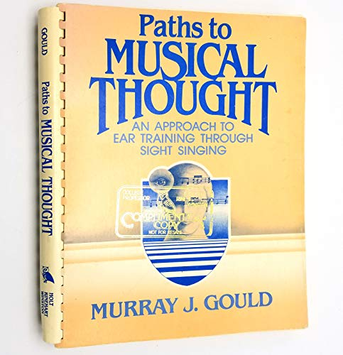 9780030204210: Paths to Musical Thought