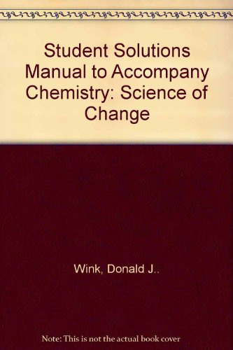 9780030204722: Student Solutions Manual for Oxtoby/Freeman/Block's Chemistry: Science of Change