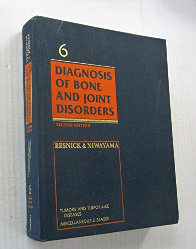9780030205323: Diagnosis of Bone and Joint Disorders: Vol 6