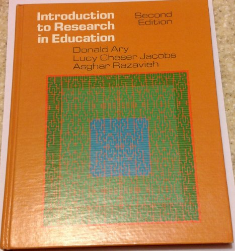 9780030206061: Introduction to Research in Education