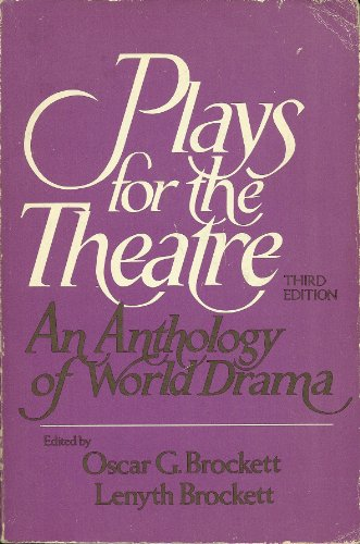 9780030207419: Plays for the Theatre: A Drama Anthology
