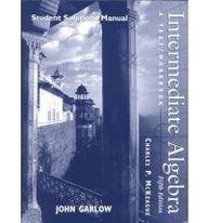 9780030208195: Intermediate Algebra: A Text/Workbook, Students Solutions Manual (Fifth Edition)