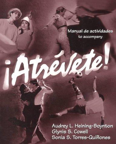 9780030210730: Manual De Actividades to Accompany Atrevete
