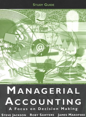 9780030210938: Managerial Accounting Study Guide