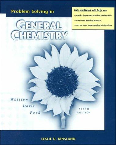 9780030212291: General Chemistry Problem Solving Workbook 6e