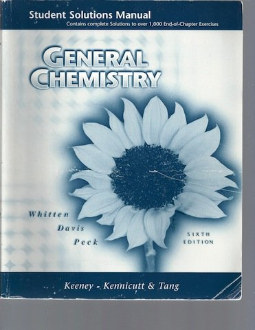 9780030212338: General Chemistry Student Solution Manual