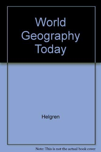 9780030213793: World Geography Today