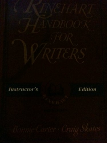 9780030215773: The Rinehart handbook for writers