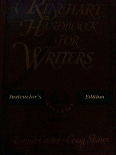 9780030215773: The Rinehart handbook for writers