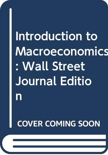 9780030218347: Introduction to Macroeconomics: Wall Street Journal Edition