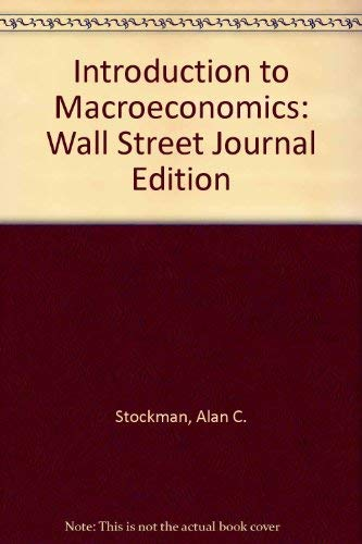 9780030218378: Introduction to Macroeconomics: Wall Street Journal Edition