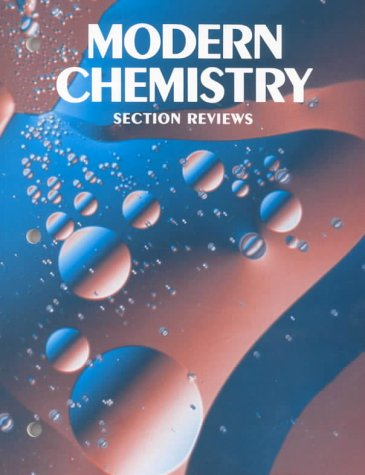 9780030218781: Section Reviews for Modern Chemistry, 1990