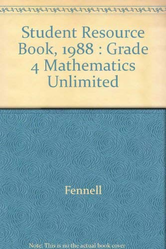 9780030219092: Student Resource Book, 1988 : Grade 4 Mathematics Unlimited