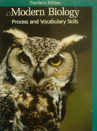 9780030219832: Teacher's Edition Process and Vocabulary Skills (Modern Biology)