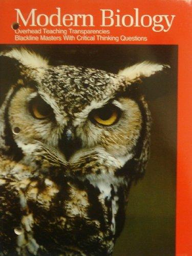 9780030219894: Modern Biology. Overhead Teaching Transparencies.