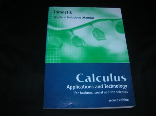 9780030220838: Calculus: Applications and Technology for Business, Social and Life Sciences