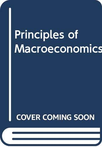 9780030222429: Principles of Macroeconomics