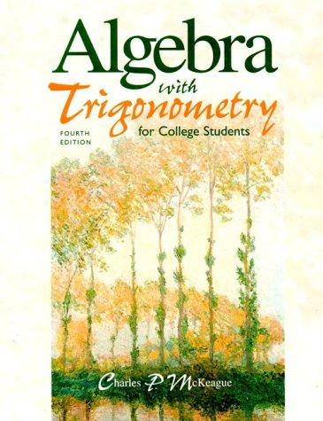 9780030223143: Algebra with Trigonometry for College Students