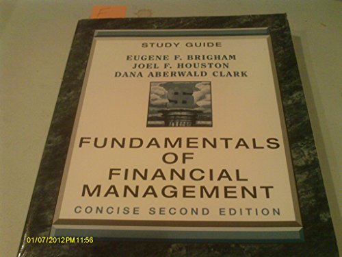9780030223228: Fundamentals of Financial Management (Study Guide)