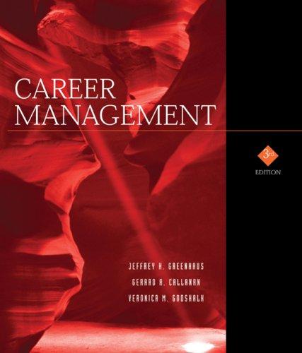 Career Management: Gerard A. Callanan;