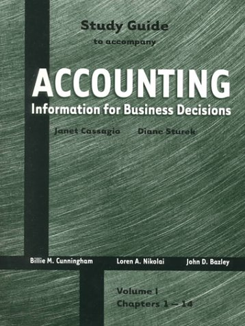 9780030224324: Study Guide, Vol 1 to accompany Information for Business Decisions