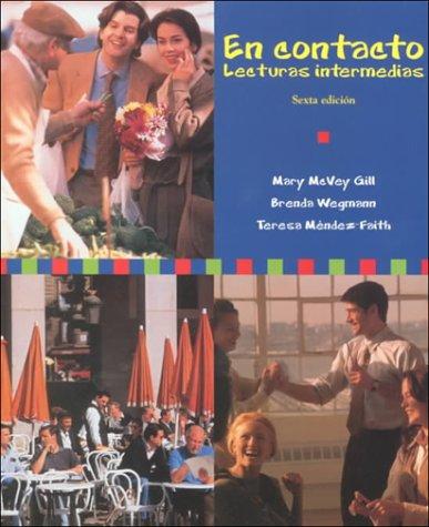 9780030225147: En contacto: Lecturas intermedias