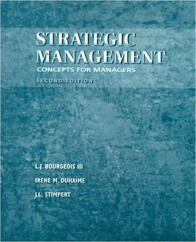 9780030226137: Strategic Management: Concepts for Managers
