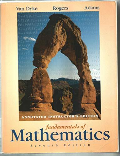 Fundamentals of Mathematics: James Van Dyke,