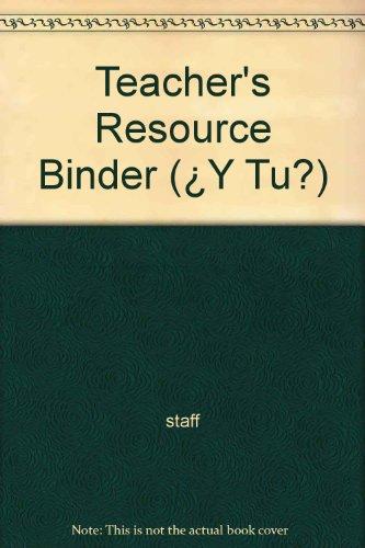 9780030227431: Teacher's Resource Binder (¿Y Tu?)
