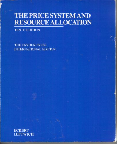 9780030228339: Price System and Resource Allocation