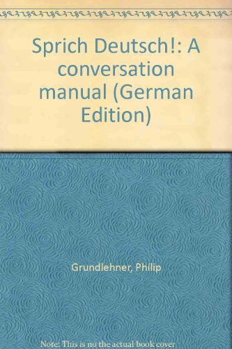 9780030229817: Sprich Deutsch!: A conversation manual (German Edition)