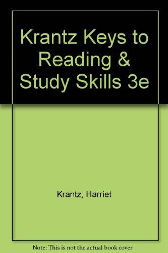 9780030230929: Krantz Keys to Reading & Study Skills 3e