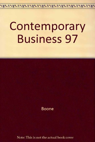 9780030231896: Contemporary Business 97